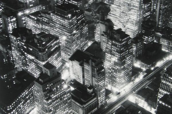 Nightview, New York, 1932, © Berenice Abbott/Commerce Graphics/Getty Images. Courtesy of Howard Greenberg Gallery, New York